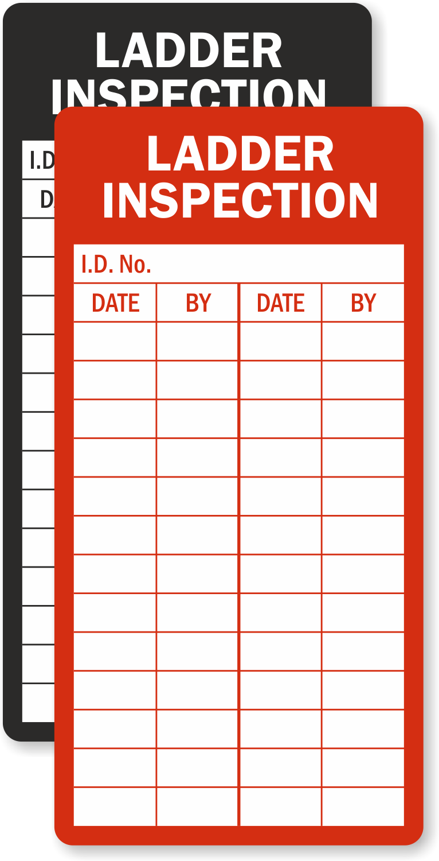 Ladder Inspection Record Label Premium Quality Sku Lb 2110