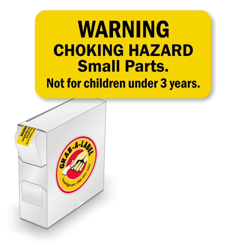 30 Choking Hazard Warning Label Requirements: Grab-a-Label In Dispenser Box