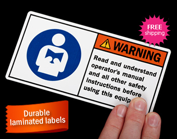 Safety Labels Warning Labels Caution Labels From