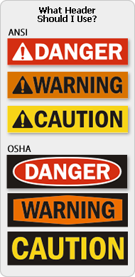 Warning Labels Stickers And Decals In Both Ansi And Osha