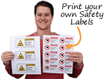 Laser Printer Safety Labels