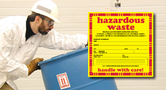 Hazardous Waste labels warn help shippers and handlers identify the contents in case of an emergency and devise the proper response.