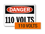 High Voltage Signs – 120 Volts