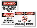 Bilingual Danger Labels