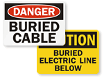 Buried Cable Signs