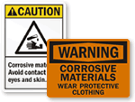 Corrosive Materials Signs