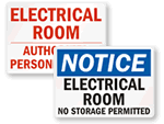 Electrical Room Warnings