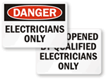 Electricians Only Labels