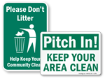 Keep Playground Clean Signs