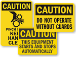 Machine Caution Signs