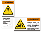 Machinery Safety Labels