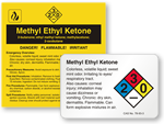 Methyl Ethyl Ketone Labels