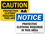 Protective Clothing Signs