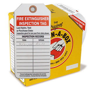 Fire Extinguisher Inspection Tags, Tags-on-a-Roll