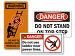 Ladder Safety Labels | Ladder Warning Labels