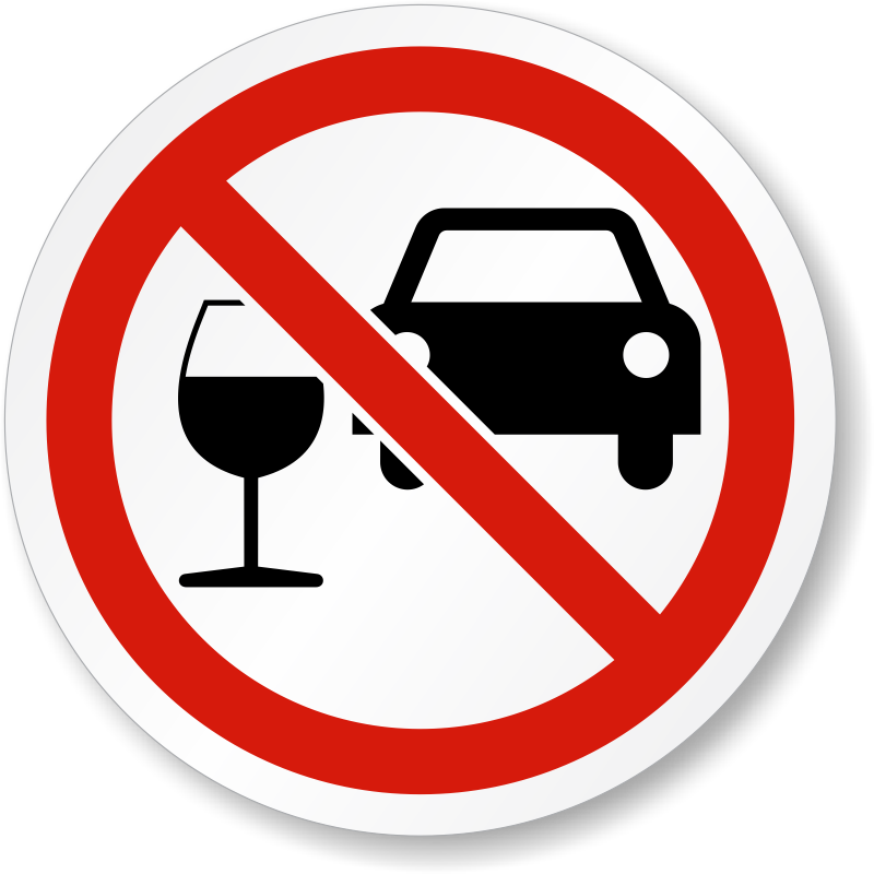 Do Not Drink And Drive Iso Prohibition Symbol Label Sku Lb 2180
