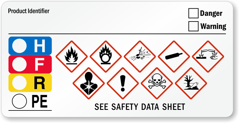 Ghs hazard and hmig combo label sku lb 2945 for Ghs label stickers