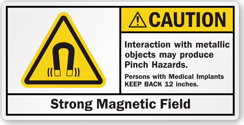 Dog Unit Fluorescent Magnetic Warning Sign Blue