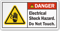 Electrical Shock Hazard Do Not Touch Danger Label