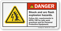 ANSI Shock And Arc Flash Explosion Hazards Label