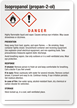 Isopropanol (2-propanol) GHS Label - Medium