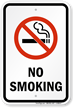 Plastic No Smoking Sign