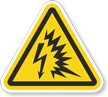 ANSI Z535.4 and ISO 3864-2 Warning (Triangle) Safety Label