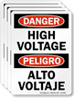 Bilingual OSHA Danger Label