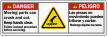 Bilingual ANSI Danger / Peligro Label