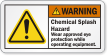 ANSI Wear Safety Glasses Warning Label