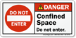 ANSI Danger Safety Label