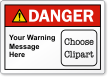 Custom ANSI Danger Label