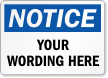 Customizable OSHA Notice Label