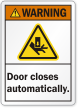 ANSI Automatic Door Warning Label