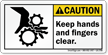ANSI Caution Safety Label