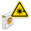 Grab-a-Labels in Dispenser Box ANSI Z535.4 and ISO 3864-2 Warning (Triangle) Labels