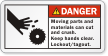 ANSI Hand Cut Danger Label