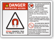ANSI Danger Restricted Access Label