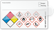 Write-On Self-Laminating GHS and NFPA Combo Label