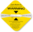 Shock Indicator Label