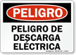 Spanish OSHA Danger Electrical Hazard Sign