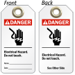 2-Sided ANSI Danger Electrical Lockout Tag