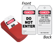 2-Sided OSHA Danger Safety Tag