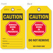 Double-Sided Machinery Service Caution Tag (Write-On)